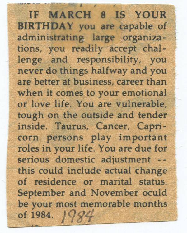 horoscope 1984