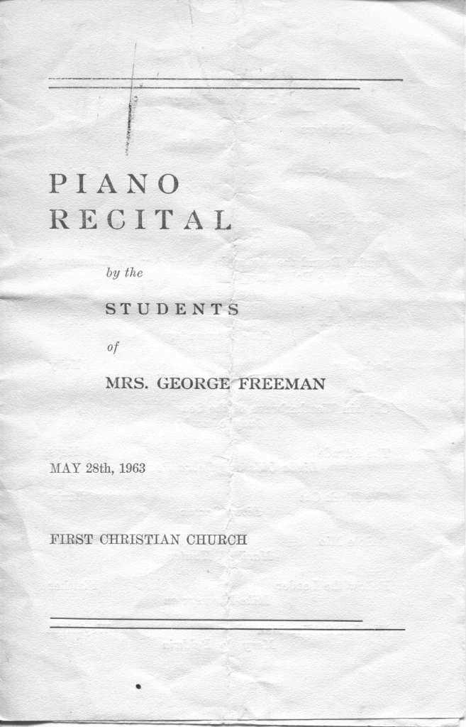 recital program - 1