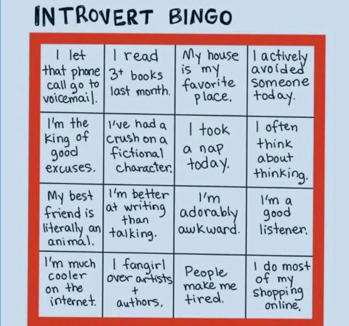 introvert-bingo
